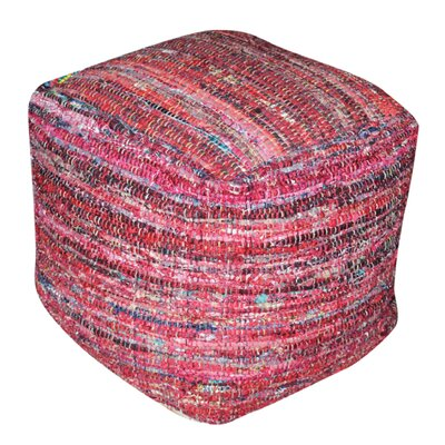 Wilkins Pouf Ottoman Upholstery: Red