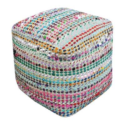 Kalivody Pouf Ottoman Upholstery: Sage