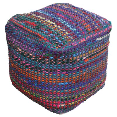 Kalivody Pouf Ottoman Upholstery: Indigo