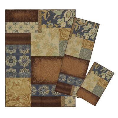 Esch-sur-Alzette 3 Piece Patches Area Rug Set