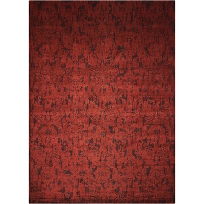 Sahana Brick Area Rug Rug Size: Rectangle 86 x 116