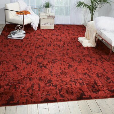 Sahana Brick Area Rug Rug Size: Rectangle 56 x 8