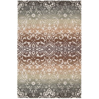 Terhune Hand-Woven Gray/Brown Area Rug Rug Size: Rectangle 8 x 106