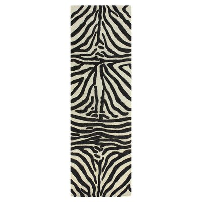Hansville Hand-Woven Ivory/Chocolate Area Rug Rug Size: Runner 26 x 8