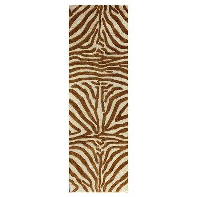 Islington Hand-Tufted Copper Area Rug Rug Size: Runner 26 x 8
