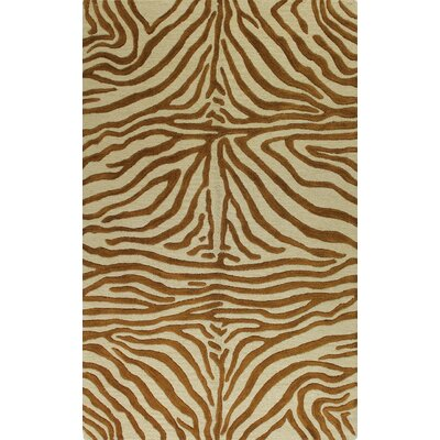 Islington Hand-Tufted Copper Area Rug Rug Size: 86 x 116
