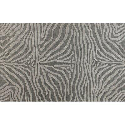 Surfside Hand-Tufted Grey Area Rug Rug Size: 5 x 8