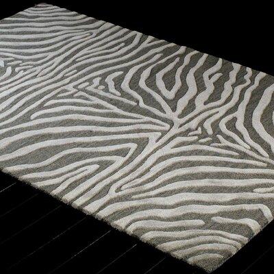 Surfside Hand-Tufted Grey Area Rug Rug Size: 79 x 96