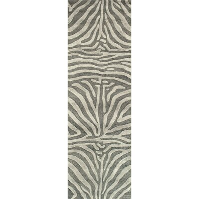 Surfside Hand-Tufted Grey Area Rug Rug Size: 36 x 56