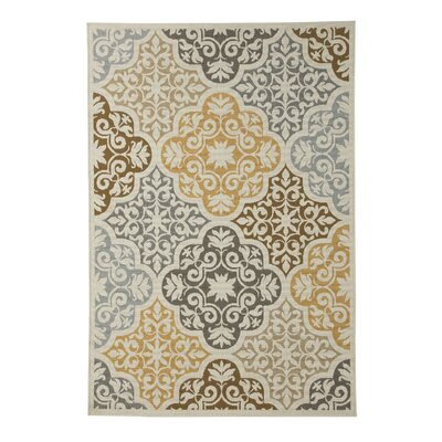 Zaliki Cream Indoor/Outdoor Area Rug Rug Size: 53 x 76