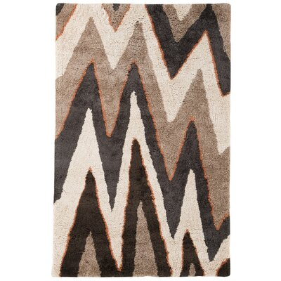 Garton Black/Brown Area Rug Rug Size: 5 x 8