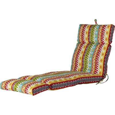 Outdoor Spun Polyester Chaise Lounge Cushion Fabric: Cotrell Garden