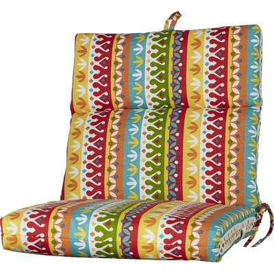 Outdoor Polyester Dining Chair Cushion Fabric: Cotrell Garden