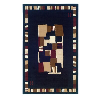 Allicia Black/Cream Are Rug Rug Size: 73 x 43