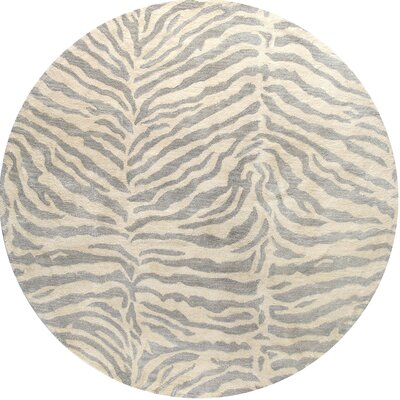 Sawgrass Hand-Tufted Light Blue Kids Area Rug Rug Size: Round 6