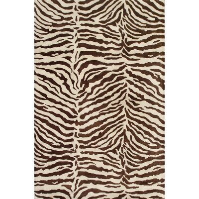 Bayport Hand-Tufted Chocolate Area Rug Rug Size: 86 x 116