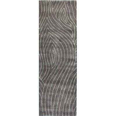 Clarksburg Hand-Tufted Grey Area Rug Rug Size: 56 x 86