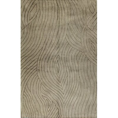 Ryleigh Hand-Tufted Taupe Area Rug Rug Size: 39 x 59