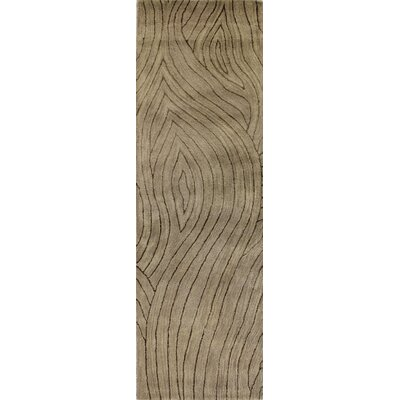 Ryleigh Hand-Tufted Taupe Area Rug Rug Size: Runner 26 x 8
