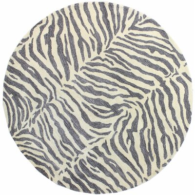 Ryleigh Hand-Tufted Grey Area Rug Rug Size: Round 8