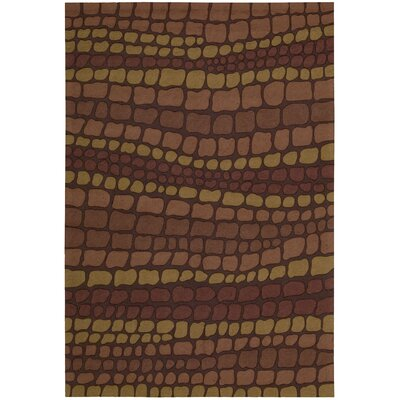 Velez Hand-Woven Brown Area Rug Rug Size: Rectangle 26 x 4
