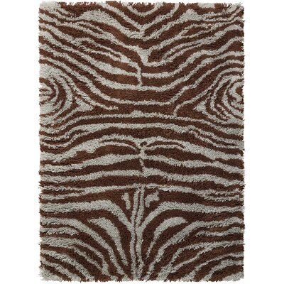 Rosalba Traditional Hand-Woven Ivory/Brown Area Rug Rug Size: 5 x 7