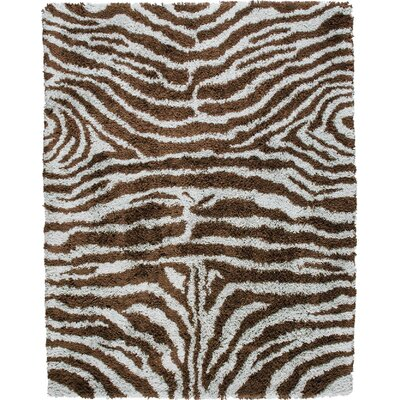 Rosalba Traditional Hand-Woven Ivory/Brown Area Rug Rug Size: 76 x 96