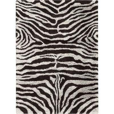 Rosalba Hand-Tufted Black/White Area Rug Rug Size: Rectangle 76 x 96
