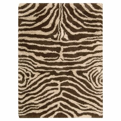 Rosalba Hand-Woven Ivory/Brown Area Rug Rug Size: 76 x 96