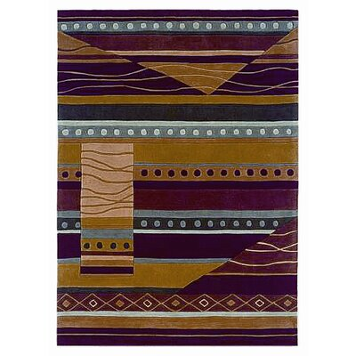 Safford Hand-Tufted Green/Garnet Area Rug Rug Size: Rectangle 8 x 10