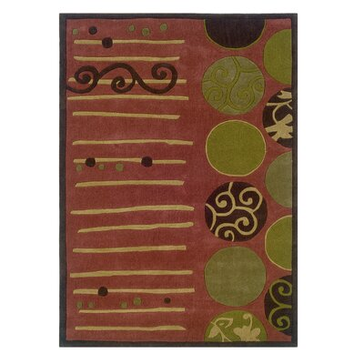 Safford Hand-Woven Terra Cotta/Wasabi Area Rug Rug Size: 8 x 10
