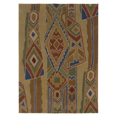 Safford Hand-Tufted Abstract Brown/Tan Area Rug Rug Size: 8 x 10