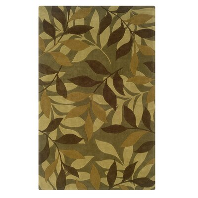 Safford Hand-Tufted Green/Brown Area Rug Rug Size: Rectangle 5 x 7