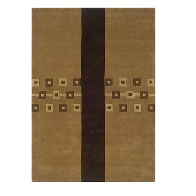 Safford Hand-Tufted Brown Area Rug Rug Size: 8 x 10