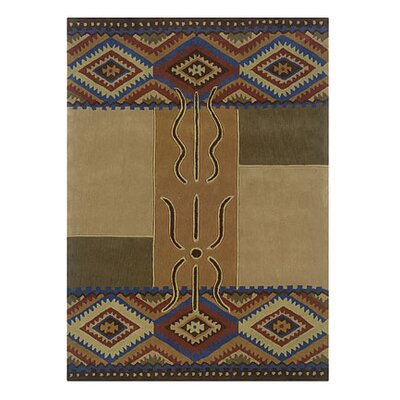 Safford Hand-Tufted Brown/Tan Area Rug Rug Size: Rectangle 5 x 7