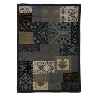 Safford Hand-Tufted Blue/Grey Area Rug Rug Size: Rectangle 5 x 7