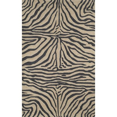 Fellman Black Zebra Outdoor Rug Rug Size: Rectangle 5 x 76