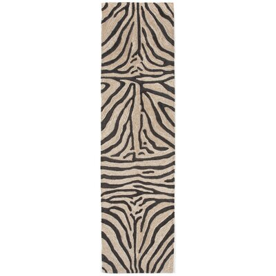 Fellman Black Zebra Outdoor Rug Rug Size: Runner 2 x 8