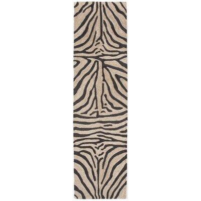 Abboud Black Zebra Outdoor Rug Rug Size: Runner 2 x 8