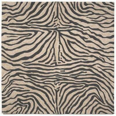 Abboud Black Zebra Outdoor Rug Rug Size: Square 8