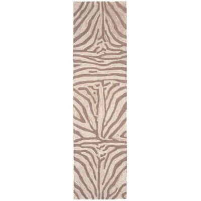 Potomac Brown Zebra Outdoor Rug Rug Size: Runner 2 x 8