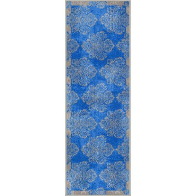 Andaluss Blue Area Rug Rug Size: Runner 2 x 7