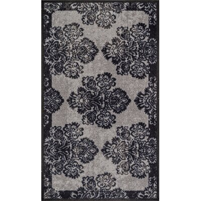 Andaluss gray Area Rug Rug Size: 18 x 5