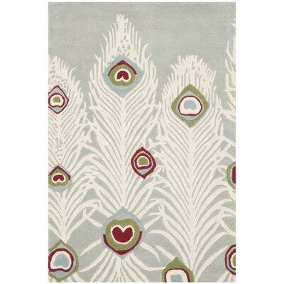 Dorthy Grey / Ivory Rug Rug Size: Rectangle 36 x 56