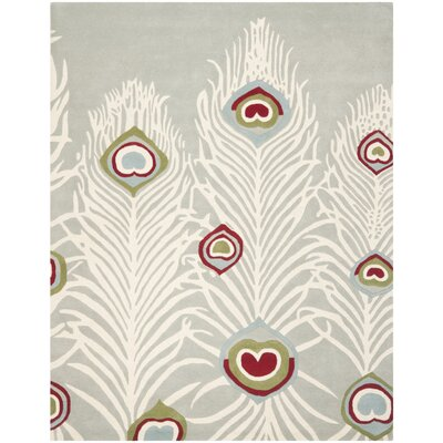 Dorthy Grey / Ivory Rug Rug Size: Rectangle 76 x 96
