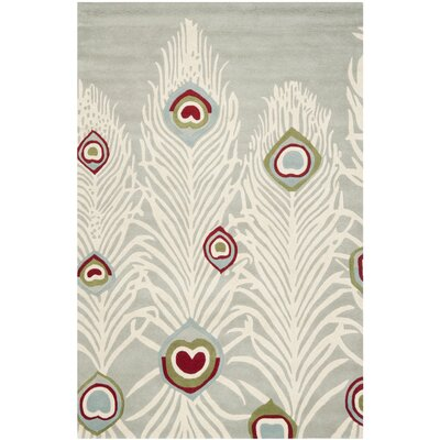 Dorthy Grey / Ivory Rug Rug Size: Rectangle 5 x 8