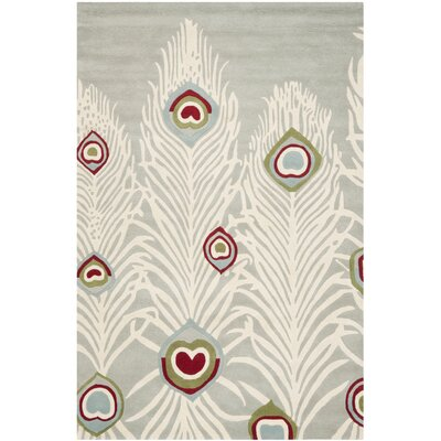 Dorthy Grey / Ivory Rug Rug Size: Rectangle 6 x 9