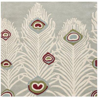 Dorthy Grey / Ivory Rug Rug Size: Square 6