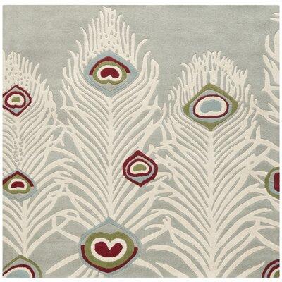 Dorthy Grey / Ivory Rug Rug Size: Square 8