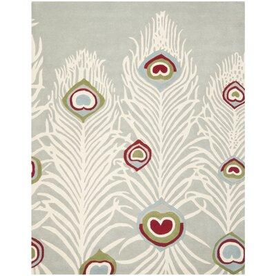 Dorthy Grey / Ivory Rug Rug Size: Rectangle 83 x 11